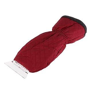 Vosarea 2 STÜCKE Eiskratzer Mitt Windschutzscheibe Schneekratzer mit Wasserdichtem Schnee Entferner Handschuh Gefüttert von Dickem Fleece (Zufällige Farbe)