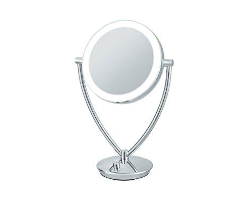 Nicol 4025900 Fiona Kosmetikspiegel LED-Beleuchtung Standspiegel 5-fach Vergrößerung mit USB-Kabel
