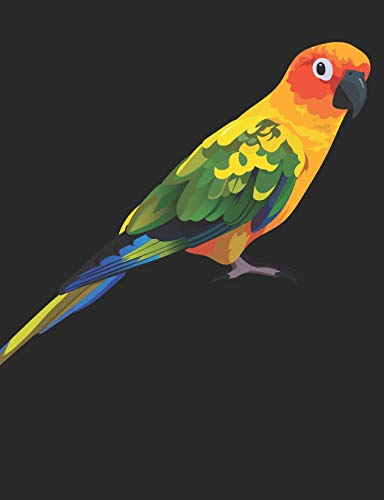 Composition Notebook: Sun Conure Notebook 100 Pages Blank Lined Paper (Sun Conure Parrot)