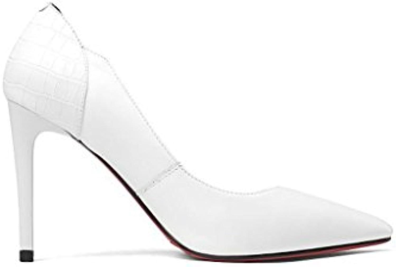 Femmes Chaussures Simples Femme Fine Avec des Talons Peu Hauts Pointu Bouche Peu Talons Profonde Chaussures Basses Chaussures...B07CP7RLR4Parent e94a02