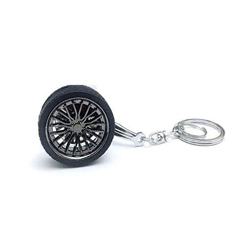 ZSDGY Auto Bremsscheibe Rad Keychain, Auto geändert Reifen Schlüsselanhänger C