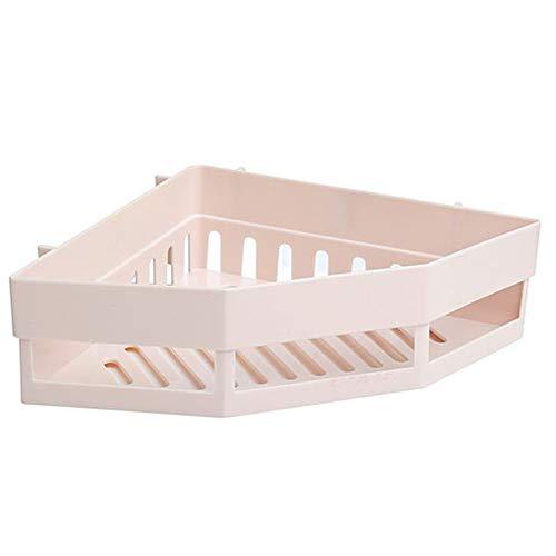Beige Spur (QAL Duschregal, Badezimmer Eckzarge PP Material Einfarbig Duschorganisator Aufbewahrung für Gesichtsreiniger oder Zahnschale - Keine Spur Beige)