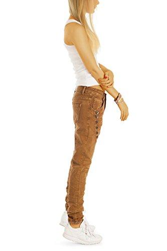 Bestyledberlin Damen Boyfriend-Jeans, Baggy Style Denim Hose, Loose Fit Jeans j17g Braun