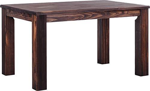 Brasilmöbel Esstisch Rio Classico 140x90 cm Eiche antik Massivholz Pinie Holz Esszimmertisch Echtholz Größe und Farbe wählbar ausziehbar vorgerichtet für Ansteckplatten