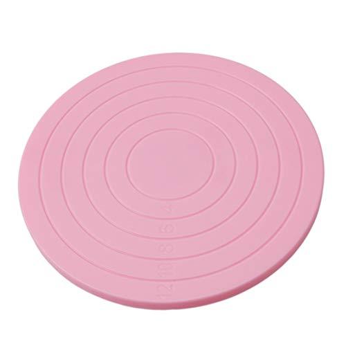 Botreelife Mini Plastic Pink Cookie Making Schwenker Stand Kuchen, der Stand Drehtabelle verziert