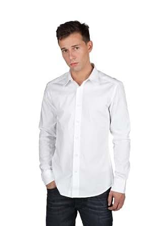 MeXX - weißes Business-Hemd aus hochwertiger Baumwolle, Größe:XS