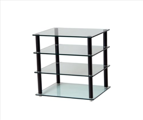 Gem Deep 4 Shelf Clear Hifi And Tv Stand 600x500