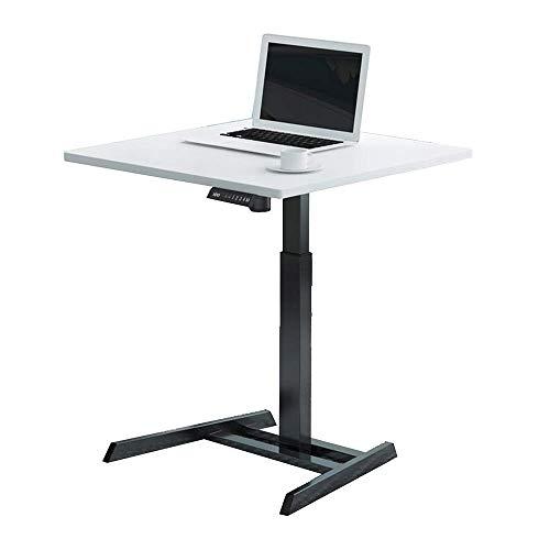 BinLZ-Table Elektro-Hubtisch Automatik-Hubtisch Verstellbarer Büchertisch, Weiß-80cm -