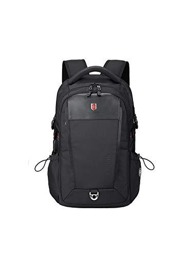 RUIGOR Executive 26 robuster Trekking Rucksack wasserabweisender Outdoor Rucksack 26l Laptop Tasche 15.6 Zoll Arbeitsrucksack und USB-Port schwarz RGB6426 -