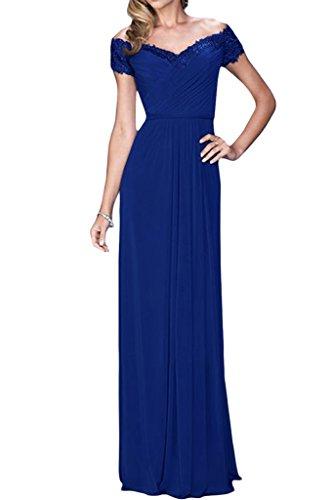 ivyd ressing robe à partir de la épaules A ligne col V Party Prom robe robe du soir bleu roi