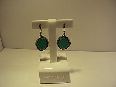 Pendientes plata piedras verdes