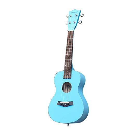 Jiuyizhe Andrew 23-Zoll-Farb-Himmelblau Ukulele kleine Vier-saitige Gitarre für Anfänger und Profis -