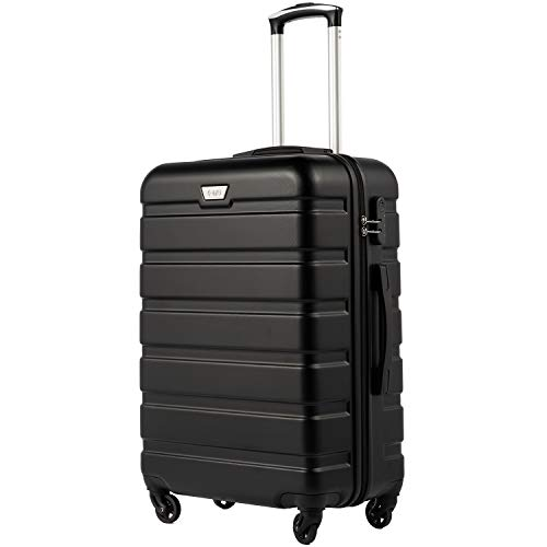 COOLIFE Suitcase Trolley Carry O...