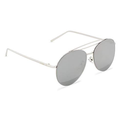 MOGENSEN Sonnenbrille Billy Aviator Flat - Silber verspiegelt - Unisex