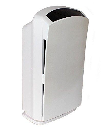 Baren B-H03 Luftreiniger, perlweiß, sehr leise mit HEPA-Filter, PM2.5 Feinstaubsensor, Ionisator, Aktivkohle, Fotokatalyse, UV-Licht, Ozonreinigung und Nacht-Funktion, ideal für Allergiker - 2