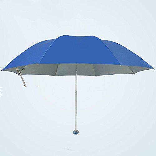Dreifach-Sonnenschirm Sonnenschutz-UV-Schutz (7 Farben, 2 Größen Erhältlich) ZHAOYONGLI (Farbe : Telecom Blue, größe : Doppelt) -