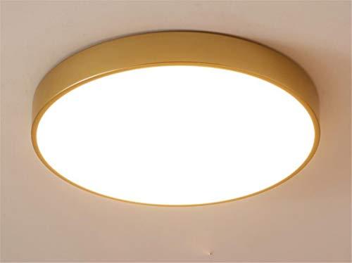 Deckenlampe Gold Led Rund Deckenleuchte Dimmbar Mit Fernbedienung Modern Wohnzimmer Schlafzimmer Lampe Für Küche Decke Leuchten Flache Deckenbeleuchtung Küchenleuchte Schlafzimmerlampe (30CM 18W)
