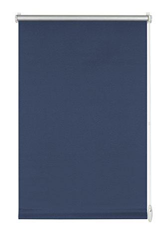 GARDINIA Thermo-Rollo mit Thermo-Rückseite zum Klemmen oder Kleben, Höchste Lichtreflektion, Energiesparend, Lichtundurchlässig, Alle Montage-Teile inklusive, EASYFIX Rollo Thermo, Blau, 100 x 150 cm (BxH) (Roller Klemmen Blau)