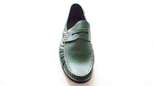 bally-dikens-05-herren-schuhegrun-echte-leder-loafers-grosse-43
