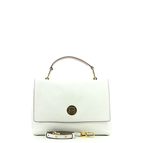 COCCINELLE LIYA DOUBLE HANDLE BAG BD0180101 BLANCHE/TAUPE Comprar Barato Eastbay emxBdS5mtC