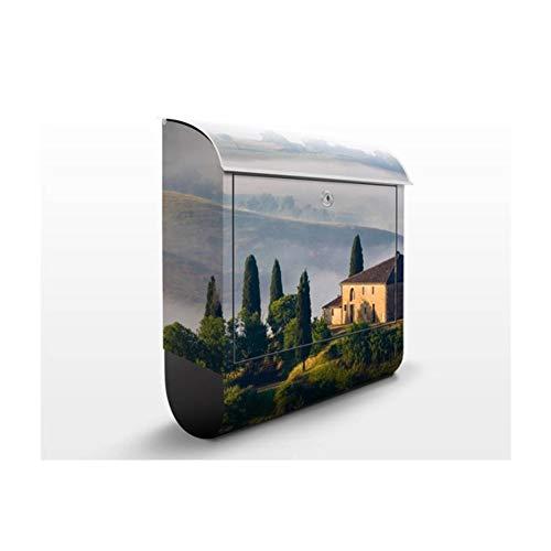 Design Briefkasten Landgut in der Toskana | Italien Romantik Florenz, Postkasten mit Zeitungsrolle, Wandbriefkasten, Mailbox, Letterbox, Briefkastenanlage, Dekorfolie