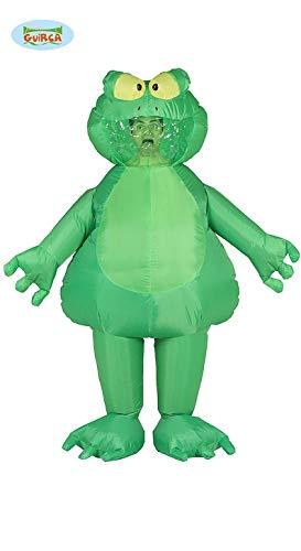 aufblasbarer Frosch grün Dick Kostüm Tierkostüm für Erwachsene, Größe:L