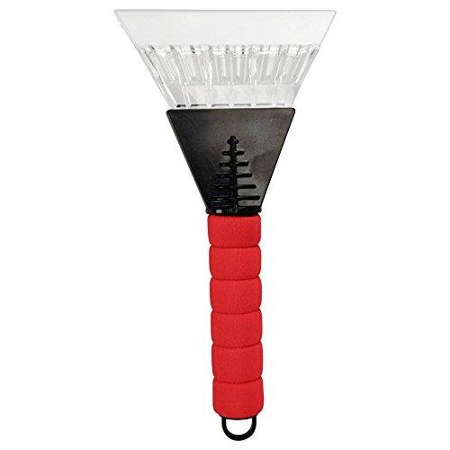 Preisvergleich Produktbild 2 in 1 Premium Eiskratzer Eisschaber mit LED Licht - extra breite 130mm Schabkante ergonomisch rutschfester Thermogriff zur einfachen Scheibenenteisung