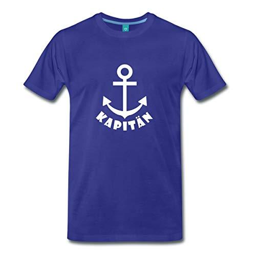 Spreadshirt Kapitän Anker Seefahrt Meer Männer Premium T-Shirt, L, Königsblau