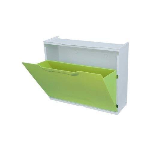 Meuble à chaussures modulable empilable mod. modulable Vert en plastique