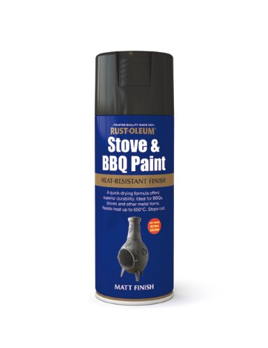 400ml Stove & BBQ Paint Black Test