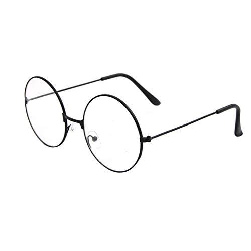 Plzlm Retro Frauen-Mann-optische Gläser Runde Metallrahmen Junge Mädchen Dekorative Weinlese-Brillen