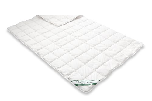 Badenia 03 731 230 149 Bettcomfort Steppbett Clean Cotton leicht, 155 x 220 cm, weiß