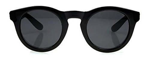 4sold New Two Tone Red & Black Klassische Unisex (Männer, Frauen) Aussenseiter-Art Retro-1980er Mode Sonnenbrillen mit geräuchertem Objektive Offe (black mata)