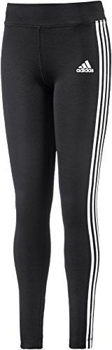 adidas Mädchen YG Gear Up 3-Streifen Tights, Black/White, 140