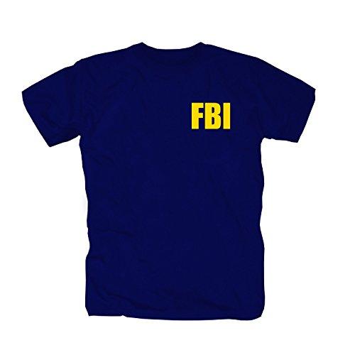 FBI Logo T-Shirt, Navy, S