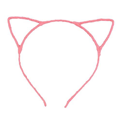 OULII Niedliche Kostüm Kostüm Party Katze Ohren verdrahtet Stirnband Tag Valentinsgeschenk für Frauen Girls (Light (Katze Kid Kostüme)