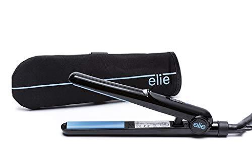 Elie plancha de pelo de viaje + Resistant a la calor de incluye bolsa (azul)