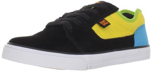DC Shoes BRISTOL YOUTH D0303081, Jungen Sportschuhe Skateboarding, Schwarz (BLK/YELLOW/TURQ BYQD), EU 33 (US 2) (Youth Dc Schuhe)