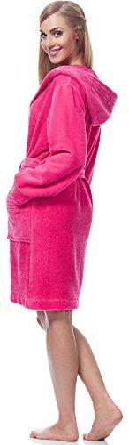 L&L Accappatoio Fibre di Bamb? per Donna Women1 Amaranto