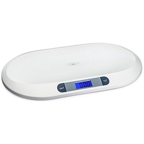 Smart Weigh Báscula para bebé, balanza digital con grande retroiluminada LCD, 3 modos de pesaje y de tara, 20 kg / 44 lb