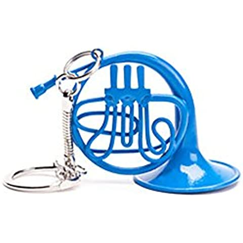 Blue French Horn Keychain - As Inspired by How I Met Your Mother