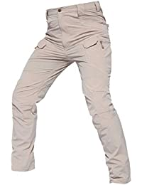 Xinwcanga Hombres Táctico Militar Urbano Al Aire Libre Tramo Pantalones de Carga Pantalone de Trekking