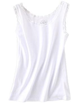 Dexinx Encaje Mujer Verano Cómodo Camisa Sin Mangas Chaleco Tank Top Blusa Camiseta