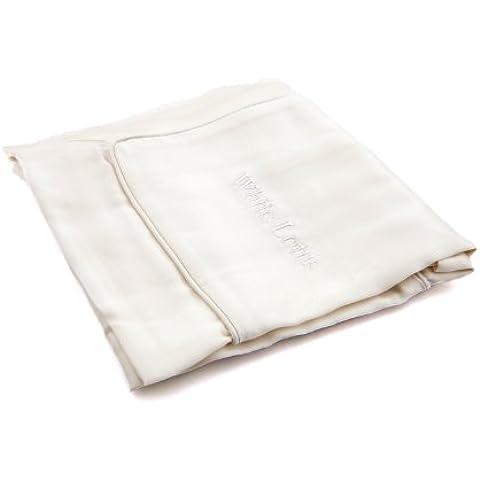 Funda de almohada de seda antienvejecimiento - Individual, blanco pour - Imprescindible para un sueño reparador - Prevención de las arrugas y la caída del cabello - 100 %