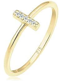 Elli PREMIUM  Croix Geo Diamant (0.05 ct.) 375 or Jaune