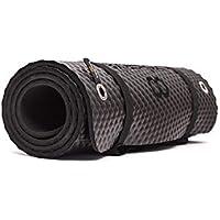 Bootymats - Colchoneta Fitness Multifunción para Todo Tipo de Entrenamiento: Fitness, Pilates, Abdominales, Estiramientos. Medidas: 160 x 60 cm. Grosor: 9 mm. Negra