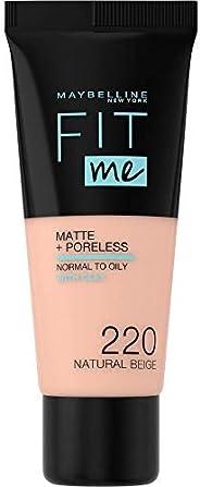 Maybelline New York Fit Me Matte & Poreless Face Foundation - 1.01 oz., 220 Natural B