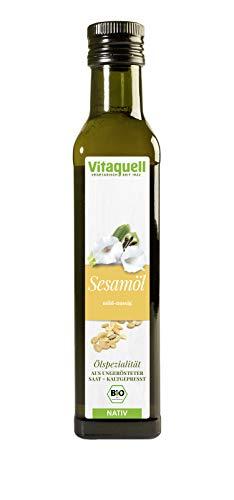 Vitaquell Sesam-Öl kaltgepresst Bio, nativ (aus ungerösteter Saat) 250 ml