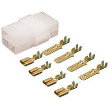 Conjunto 4 vias caja de conexión polarizada más terminales faston Macho y Hembra ElectroDH 10.960/4