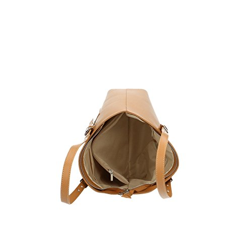 Chicca Borse Borsa a tracolla in pelle 36x38x14.5 100% Genuine Leather Cuoio
